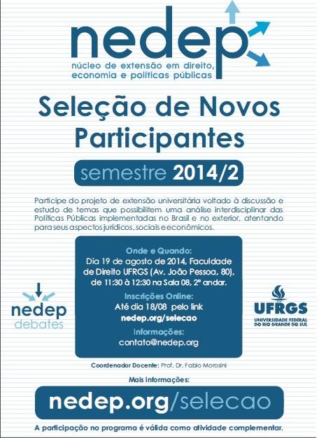 Cartaz Seleção 2014.2